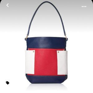 Signature Leather 4th of July red/white/blue Bag
